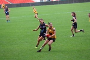 Western Australia's Roxy Roux against Vic Metro at the AFLW U18 Championships